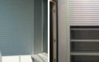 Шкаф на балкон с роллетами