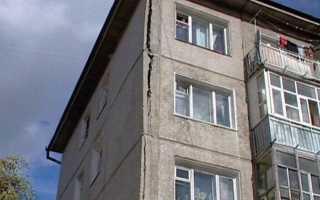Трещина в стене панельного дома что делать