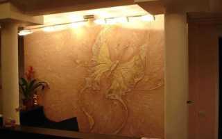 Отделка стен внутри дома декоративной штукатуркой