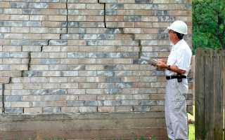 Трещина в стене кирпичного дома что делать