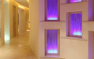 Искусственное окно с подсветкой