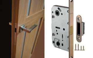 Как установить магнитный замок на межкомнатную дверь?