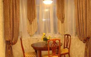 Кухонные шторы до подоконника своими руками
