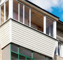 Вынос балкона при остеклении ПВХ