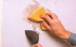 Как снять старую побелку со стен