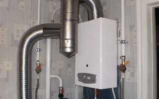 Как повесить газовую колонку на стену