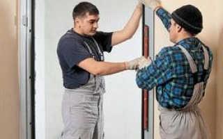 Как поставить металлическую дверь своими руками?
