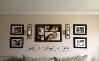 Как оформить фотообои на стене в рамку