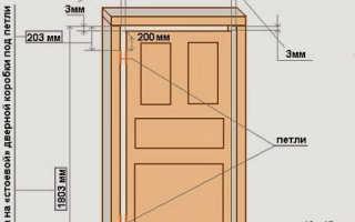 Установка дверной коробки без порога