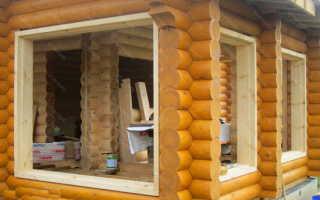 Установка пластиковых окон в доме из бруса