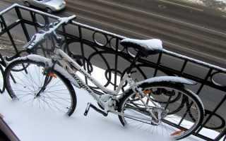 Как закрепить велосипед на балконе