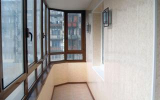 Монтаж пластиковых панелей на балконе