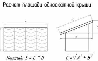 Как высчитать площадь треугольника крыши