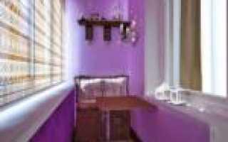 Покраска стен на балконе в панельном доме
