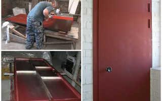 Как сварить железную дверь своими руками?