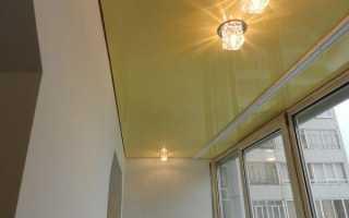 Натяжной потолок на лоджии мороз