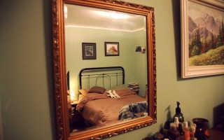 Как повесить зеркало на стену из гипсокартона