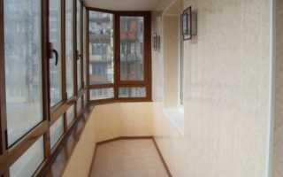 Чем зашить балкон внутри