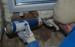 Как правильно пропенить пластиковые окна
