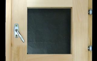 Банное окно со стеклопакетом