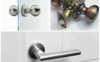 Как открутить ручку межкомнатной двери?