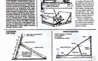 Как поднять стену каркасного дома одному