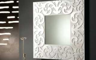 Как повесить зеркало на стену без рамки