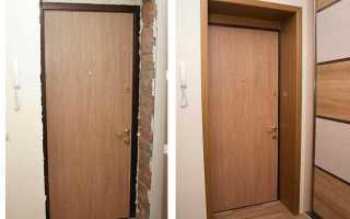 Как сделать доборы на входную дверь?