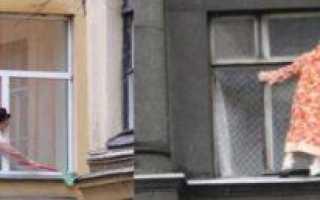 Как мыть глухие пластиковые окна снаружи