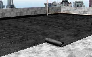 Покрытие крыши гаража гидроизолом