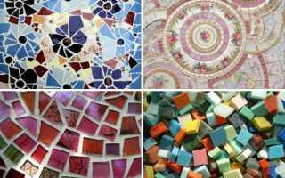Как класть плитку мозаику на стену