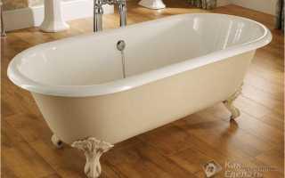 Как закрепить стальную ванну к стене