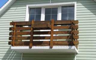 Как сделать балкон в доме из бруса