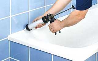 Как уплотнить ванну со стеной своими руками