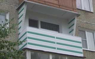 Дизайн незастекленного балкона