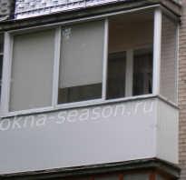 Застеклить балкон с крышей в хрущевке