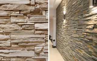 Как приклеить декоративный камень на стену