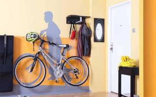 Как подвесить велосипед на стену