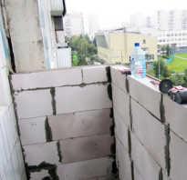 Усиление парапета балкона под пластиковое остекление