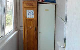 Как самому сделать шкаф на балконе