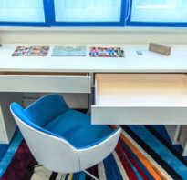 Подоконник переходящий в письменный стол