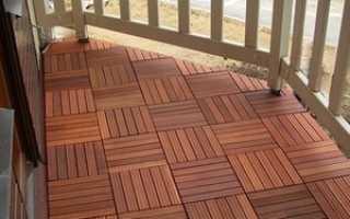 Чем застелить пол на открытом балконе