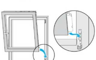 Как снять открывающуюся створку пластикового окна