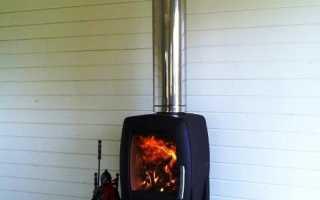 Установка дымохода через стену в деревянном доме
