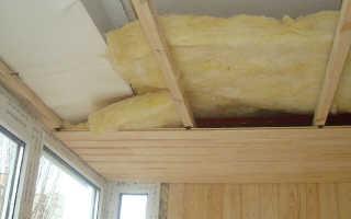 Нужно ли утеплять потолок на лоджии