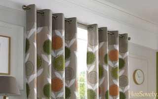 Как стирать шторы с люверсами?