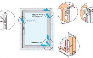 Как приподнять створку пластикового окна