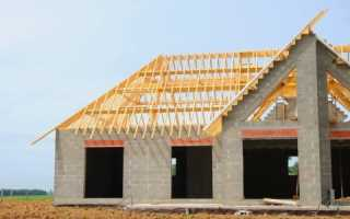 Как закрепить крышу к пеноблоку