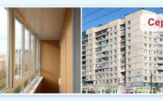 Остекление балконов 137 серии 6000 с закруглением