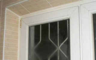Отделка окна плиткой внутри